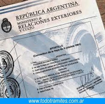 Apostilla de la Haya en Argentina