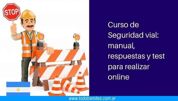 Curso de Seguridad vial: manual, respuestas y test para realizar online