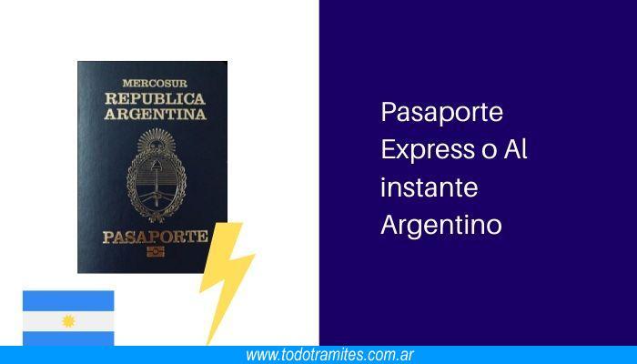 Pasaporte Express o Al instante Argentino: cómo tramitarlos y cuánto valen