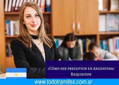 Requisitos para ser preceptor 5 Tramites Y Requisitos Para Ser Preceptor En Argentina