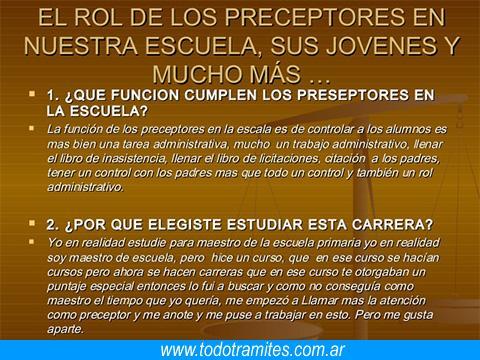Requisitos para ser preceptor 7 Tramites Y Requisitos Para Ser Preceptor En Argentina