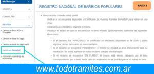 certificado renabap articulo certificado de vivienda familiar