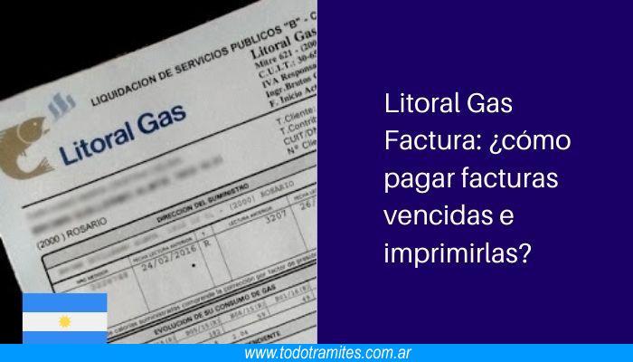 Litoral Gas Factura: cómo pagar facturas vencidas e imprimirlas