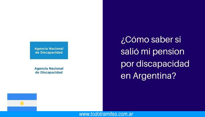 Cómo saber si salió mi pension por discapacidad en Argentina Consulta el estado del trámite