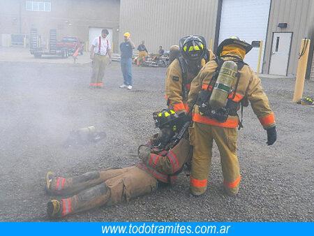 entrenamiento para ser bombero