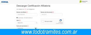 paso 4 descarga de certificado de afiliacion ioma