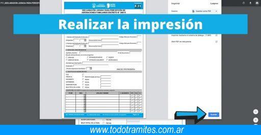 Descargar formulario F.11 de Asignación Familiar (ANSES)