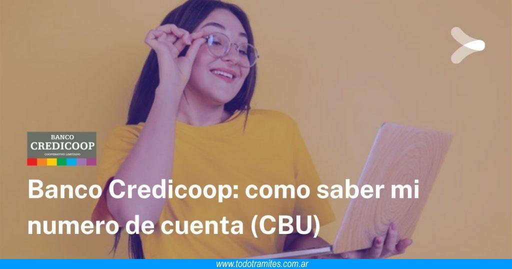 Cómo saber mi número de cuenta del banco Credicoop