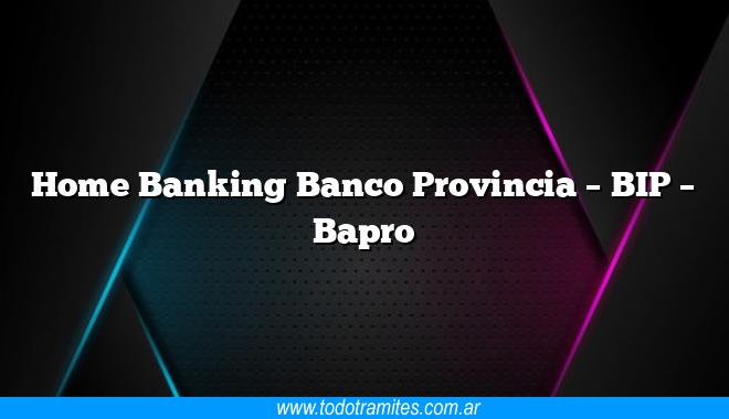 Home Banking Banco Provincia –  BIP –  Bapro