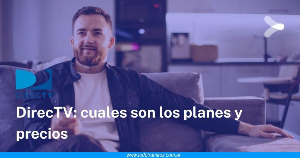 DirecTV Prepago en Argentina -  planes y precios