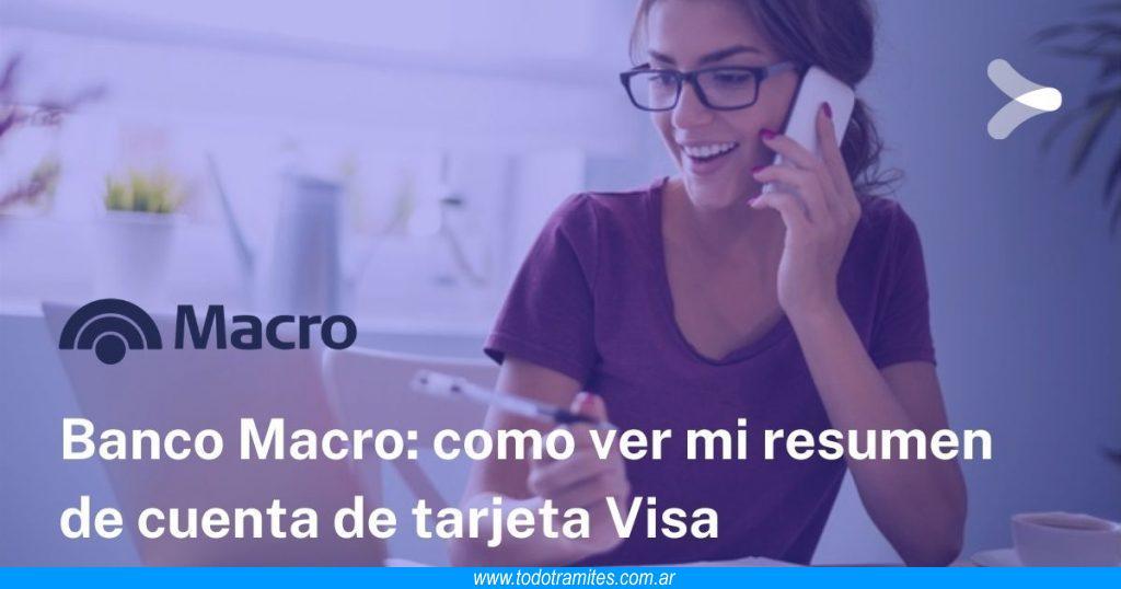 Cómo ver mi resumen de cuenta de Tarjeta VISA Banco Macro