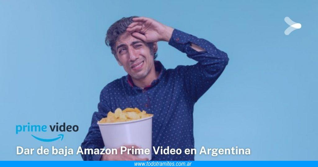 Cómo cancelar Amazon Prime Video en Argentina
