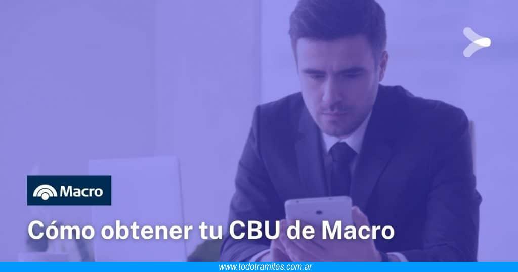 Cómo saber mi CBU de Banco Macro