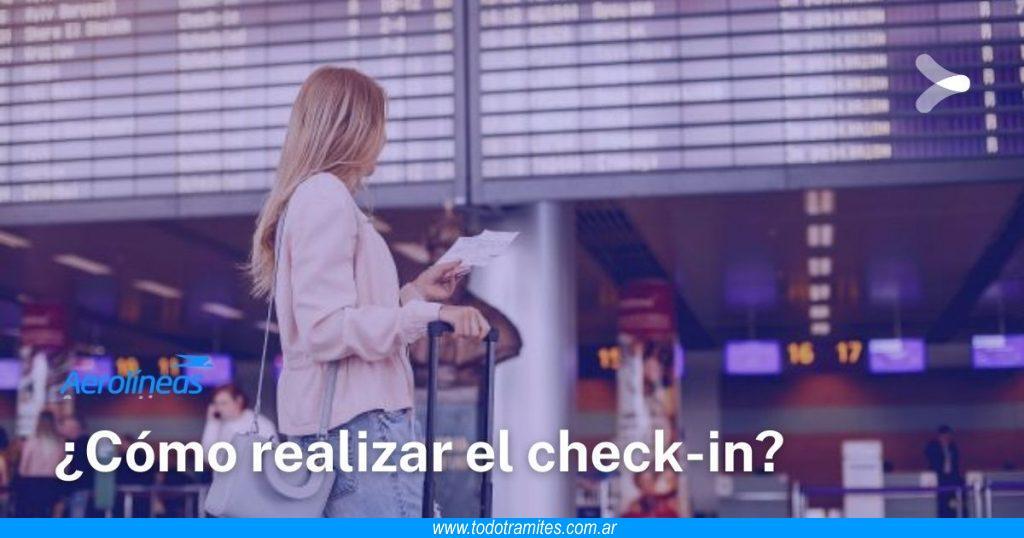 Cómo hacer check in en Aerolineas Argentinas
