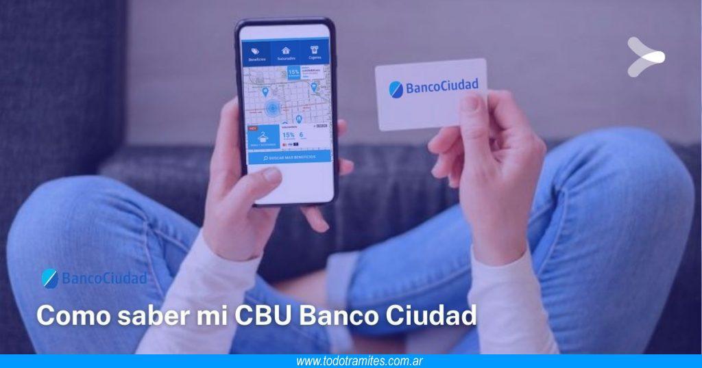 Cómo obtener mi CBU del Banco Ciudad por Internet