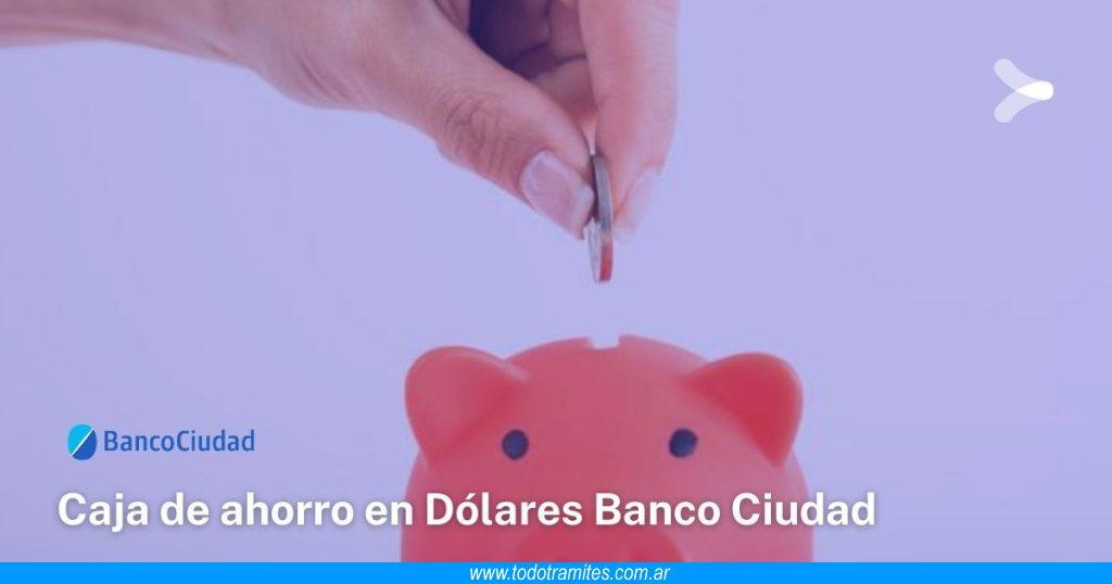 Cómo abrir una caja de ahorro en dólares en el Banco Ciudad