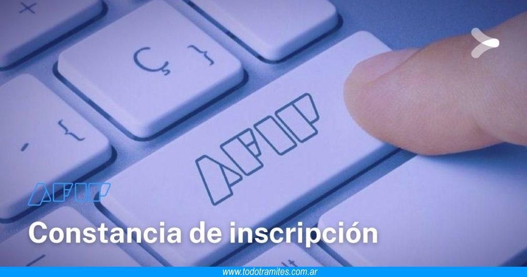 Cómo obtener e imprimir la constancia de inscripción en AFIP