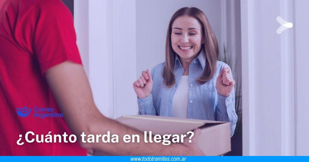 Cuanto tarda en llegar un paquete de Correo Argentino