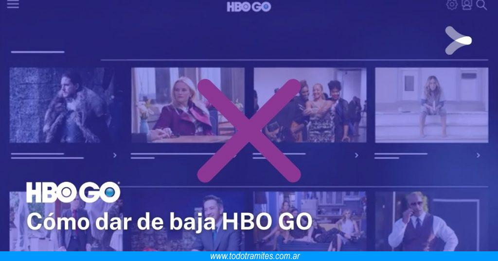 Cómo dar de baja HBO GO