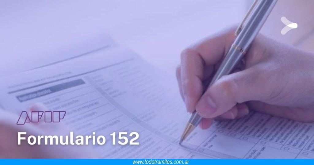 Formulario 152 -  Cómo generar e imprimir la credencial de pago del monotributo