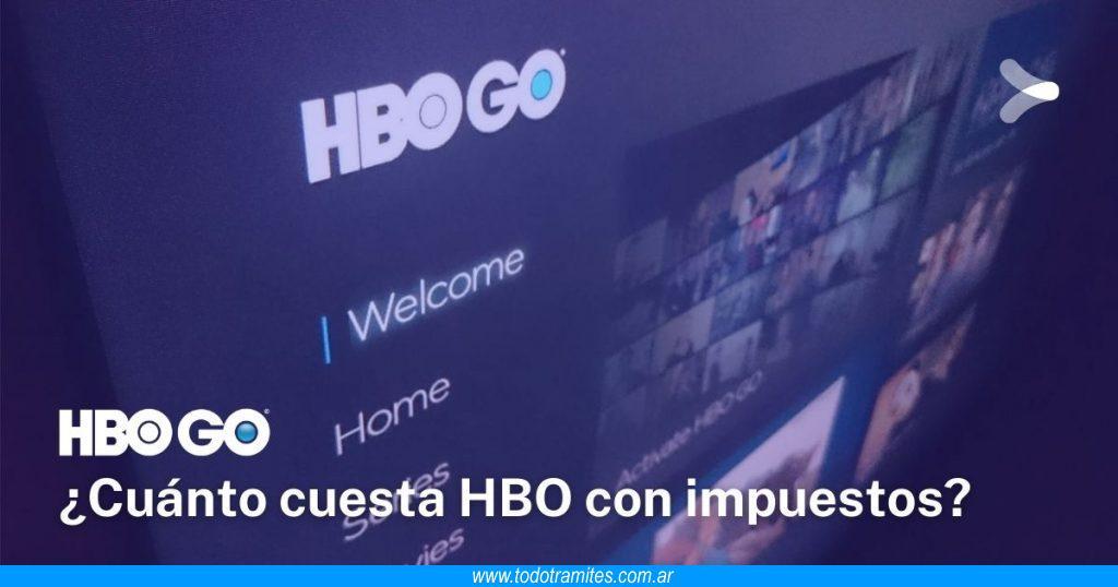 HBO GO Argentina -  calculadora de precio con impuestos incluidos