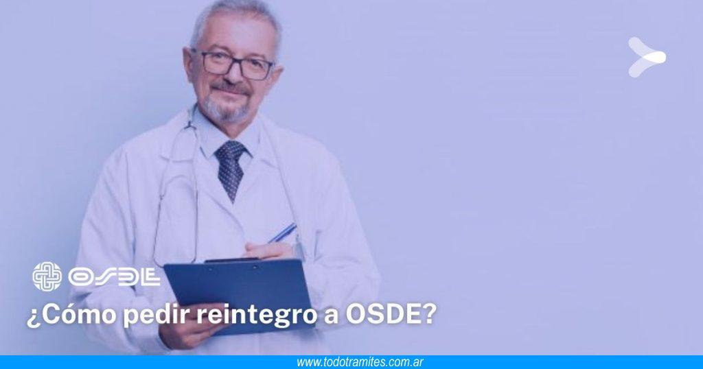 Cómo pedir un reintegro en Osde