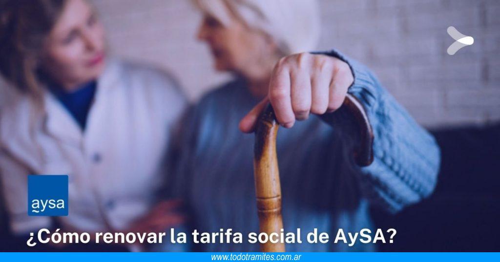 Cómo renovar la tarifa social de AySA