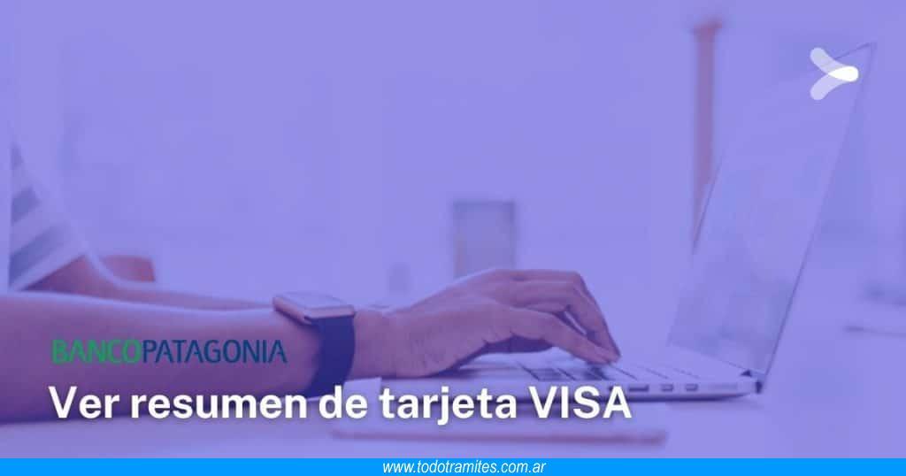 Cómo ver mi resumen de tarjeta VISA del Banco Patagonia