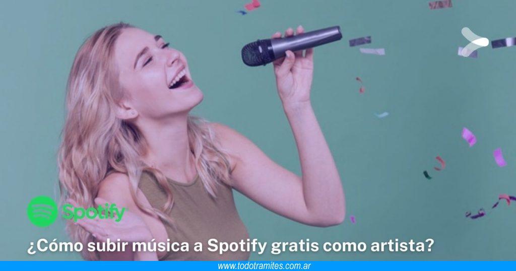 Cómo subir música a Spotify gratis como artista legalmente
