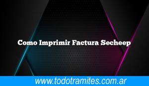 Como Imprimir Factura Secheep